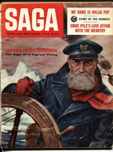 SAGA MAGAZINE 11/1956-JAYNE MANSFIELD-SOPHIA LOREN-WW2-Norman Saunders