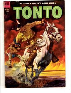 Tonto # 12 FN Dell Silver Age Comic Book Lone Ranger Western Cowboy JL10