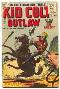 Kid Colt Outlaw #49 1955- Russ Heath cover- Man in Black VG-