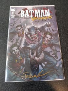 ​BATMAN WHO LAUGHS #1 SCORPION COMICS VARIANT SIGNED BY LUCIO PARRILLO W/ COA
