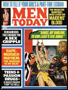 Men Today Jan 1970-NAZI biker gang TORTURE cover-GGA-Pulp Mag