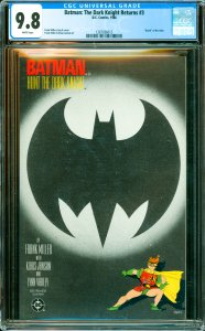 Batman: The Dark Knight Returns #3 CGC Graded 9.8 Death of the Joker.