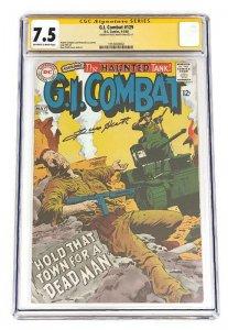 G.I. COMBAT #129 CGC 7.5 SINGLE HIGHEST GRADED SIGNED RUSS HEATH 1968 DC Comics