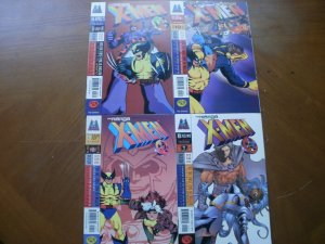 4 Near-Mint Marvel Imports X-MEN: THE MANGA Comic #3 #4 #7 #9 (1998) Yasue