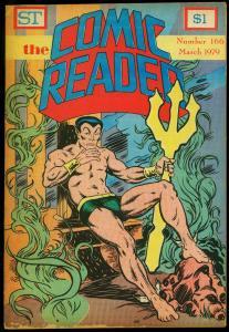 Comic Reader #166 1979- Fanzine- Sub-Mariner cover G