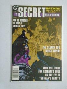 Batman No Man's Land Secret Files #1 4.0 VG (1999)