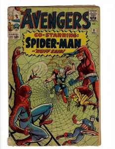 Avengers # 11 VG Marvel Comic Book Iron Man Hulk Thor Captain America  KD1