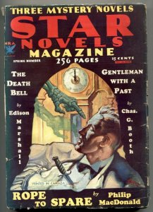 Star Novels Pulp Spring 1934- Rozen skeleton cover VG-