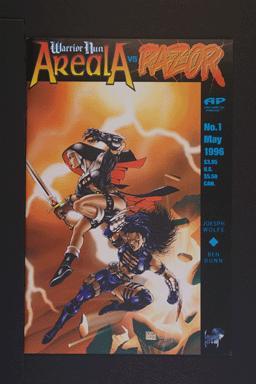Warrior Nun Areala vs. Razor #1 May 1996. Antarctic Press
