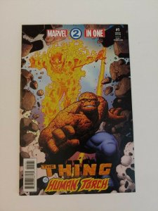 Marvel Two In One #1 Art Adams Variant Comic 2017 1:25 Thing Human Torch