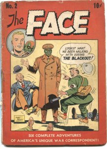 THE FACE #2-1943-HORROR MASK SUPER HERO-FIGHTS JAPANESE AND NAZIS-WW II