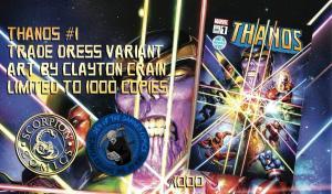 Thanos #1 Clayton Crain Variant w/ COA