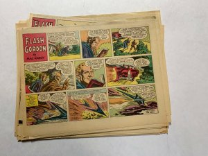 Flash Gordon Complete Year 1956 Tabloid Size Color Newspaper Sundays