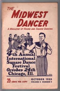 Midwest Dancer 10/1953-FRank Colton cover art-Round & Square dancing-VG/FN