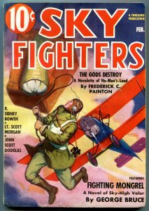 Sky Fighters Pulp February 1937- Fighting Mongrel- Frederick Painton VG/F