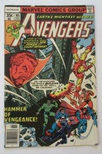 Avengers #165 1st Appearance of Henry Gyrich 1977 Marvel Comics FN