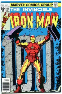 IRON MAN #100, VF, Tony Stark, Jim Starlin, vs Mandarin 1968, more in store