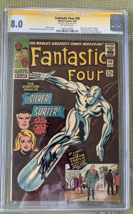 Fantastic Four #50 (1966) CGC 8.0 -- Signed by Stan Lee Signature Series; Kirby
