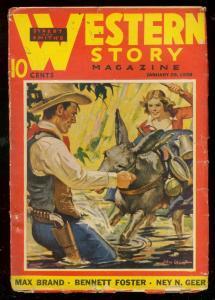 WESTERN STORY PULP JAN 29 1938-MAX BRAND-STREET & SMITH VG