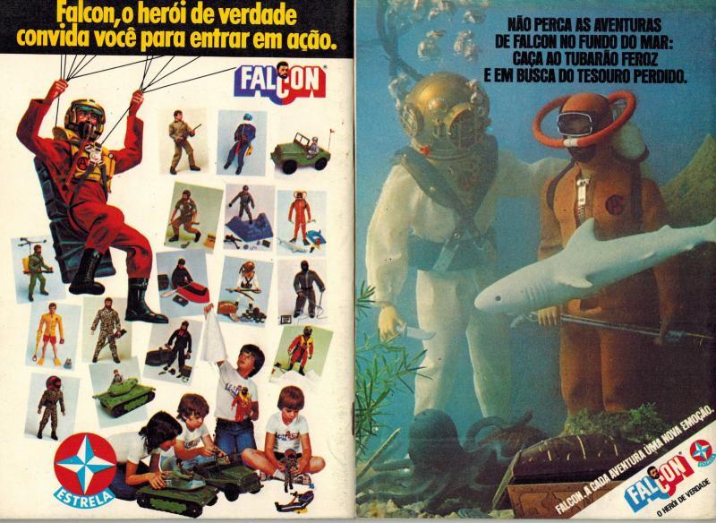 Falcon Comandos em Acao Brazilian GI Joe Comics Lot #1-4 (Editora Tres 1977) VF!