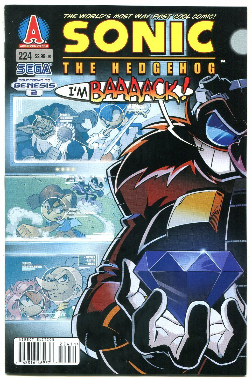Sonic The Hedgehog 224 2011 Archie Comics Sega Hipcomic