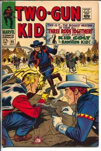 Two-Gun Kid  #89 1967-Marvel-Rawhide Kid-key issue-Kid Colt -VF