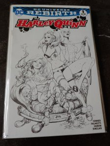 Harley Quinn # 1 Comic Hero U Sketch Variant NM DC Universe Rebirth