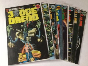 Judge Dredd 3-10 3 4 5 6 7 8 9 10 Lot Set Run Nm- Near Mint- Eagle Comics