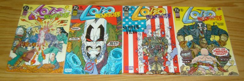 Lobo: Infanticide #1-4 VF/NM complete series - alan grant - keith giffen set 2 3