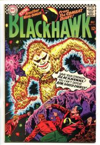 BLACKHAWK #222 1966-DC-ENERGY MONSTER COVER-vf+