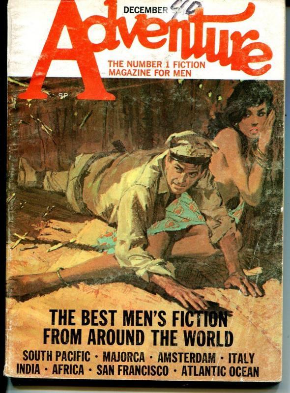 Adventure 12/1970-Popular-pulp fiction-Basil Gorgos-Marlowe-Pronzini-VG