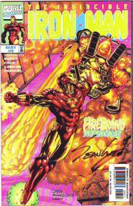 Iron Man, the Invincible #4 (May-98) NM Super-High-Grade Signed Sean Chen Wow