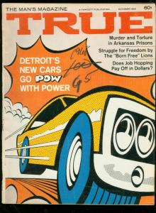 TRUE PULP MAG-OCT 1968-LAUGHIN-MUSCLE CARS-PRISON CRIME FN