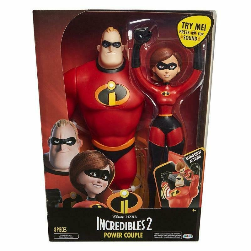 The INCREDIBLES 2 Power Couple, Disney Pixar 12 2-pack w/ Sound, Mr, Elastigirl
