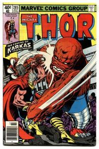 Thor #285 1979 KARKAS appears comic book Marvel