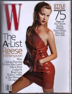 W 2/2006-Conde Nast-Reese Witherspoon-Dakota Fanning-Chic Fashions-VG
