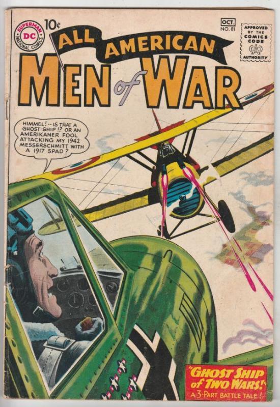 All-American Men of War #81 (Oct-60) FN Mid-Grade