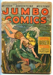 Jumbo Comics #51 1943- SHEENA v crocodile G