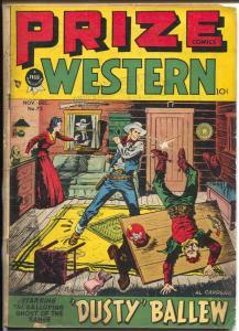 Prize Comics western  #72 1948-Al Carreno-Black Bull-John Severin-VG
