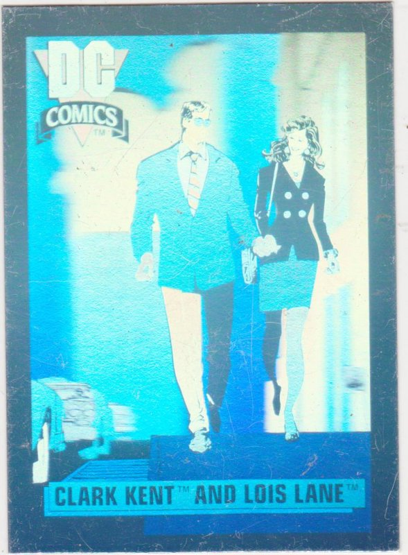 1991 DC Cosmic Cards Hologram #1 Clark and Lois