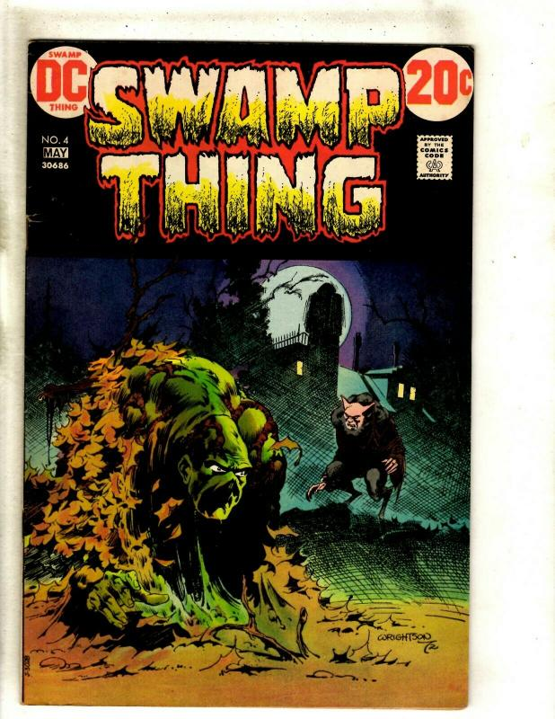 Swamp Thing # 4 FN/VF DC Comic Book Bernie Wrightson Art Horror Fear Scary RS1