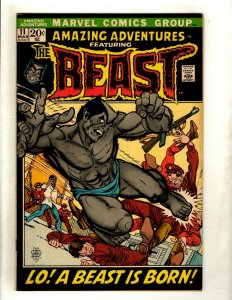 Amazing Adventures # 11 FN/VF Marvel Comic Book Blue Beast X-Men Key Hot RS1