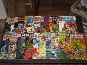 HUGE SET of 17 Comics!!-MARVEL FANFARE #3-#19 F/VF  (SIC313)