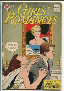 Girls' Romances #72 1960-DC-love triangle cover-romance art-G