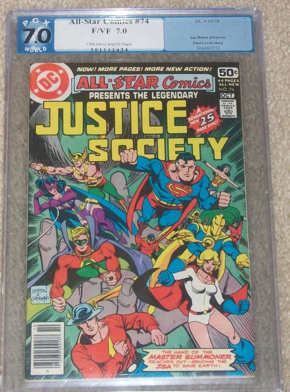 All-Star Comics #74 (Sep-Oct 1978, DC) PGX 7.0 Justice Society of America F/VF