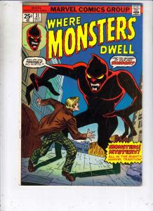Where Monsters Dwell #31 (Oct-74) VF+ High-Grade