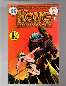 KONG THE UNTAMED 1 FINE PLUS Wrightson Cover!  6/75-7/7