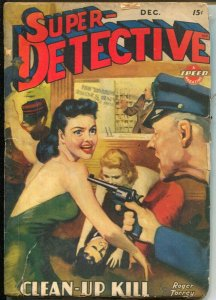 Super-Detective 12/1943-WWII era issue-hardboiled pulp fiction-Roger Torrey-G/VG