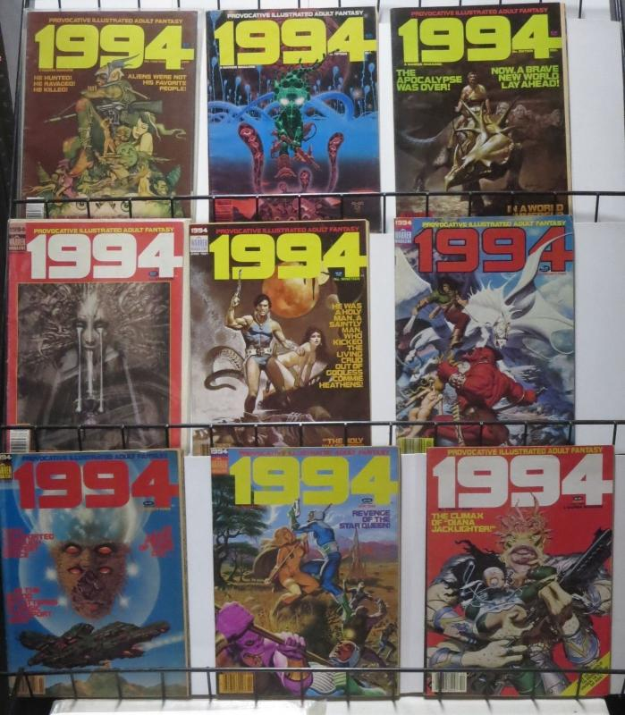 1994 (Warren, 1981) #13,15,16,18,19,22,23,24,28.  G-VG! Adult Sci-fi!