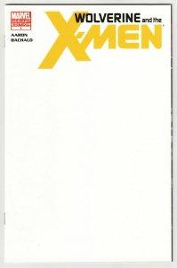 Wolverine and the X-Men #1 Blank Sketch Variant Cvr (Marvel, 2011) NM